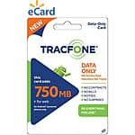 TracFone Data Card On Sale at walmart: 750mb for $15, 2GB for $30