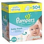 Pampers Softcare Baby Fresh Wipes, 504 Count $8.52 (Maximum)