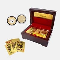 Tanga Deal: 24kt Gold Poker Cards with Free Poker Chip $12.99 Free Shipping