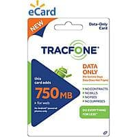 Walmart Deal: TracFone Data Card On Sale at walmart: 750mb for $15, 2GB for $30