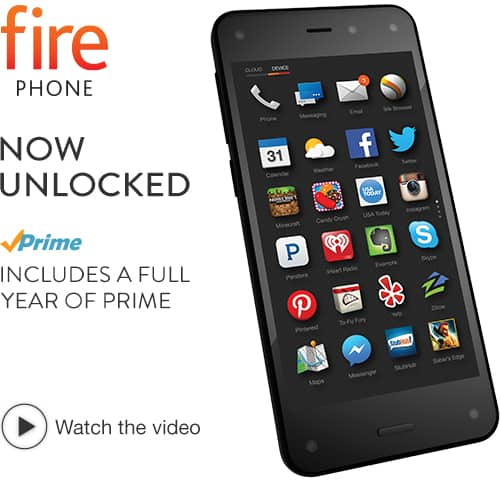 **Live Again** Amazon Fire Phone + 1 Year of Prime $199