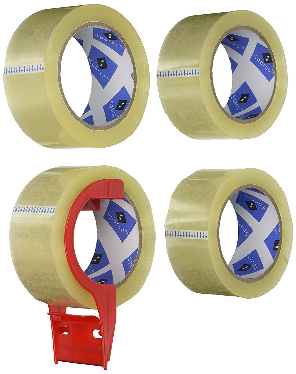 Sparco Packing Tape (4 Pack)  Dispenser, 3 Inches Core, $4.85