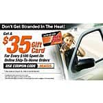 Get $35 gift card for every $100 purchase at AutoZone.com