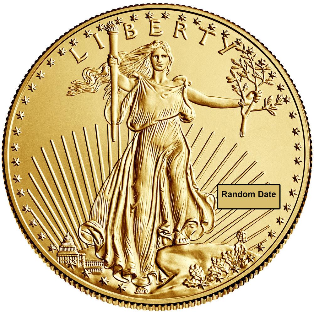 $5 1/10oz American Gold Eagle coin BU (Random Date) @eBay $136.35