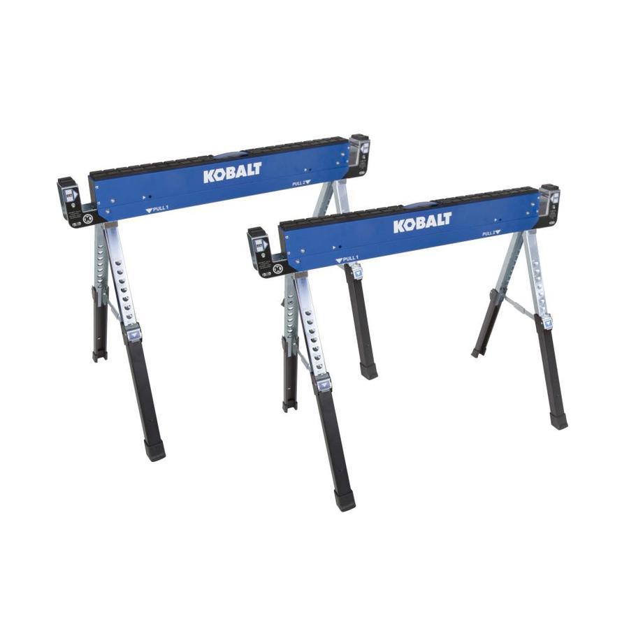 Kobalt 2-Pack 42-in W x 32-in H Adjustable Steel Saw Horse (800-lbs Capacity) $27.99 B&M YMMV