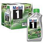 Samsclub has Mobil 1 5W-30 Motor Oil - 1 qt. bottles - 6 pk & Mobil 1 0W- 20 Advanced Fuel Economy Motor Oil - 6pk for $28 and $26 respectively.