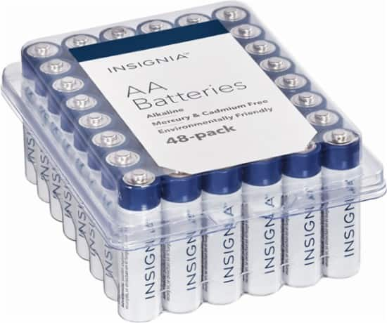 Insignia™ - AA Batteries (48-Pack) for $9 or less