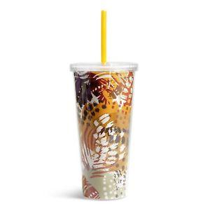 Vera Bradley 21-oz. Travel Tumbler in Zebra for $5.99 +FS (BPA-free)
