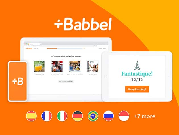 Babbel Language Learning: Lifetime Subscription (All 14 Languages) $95.40