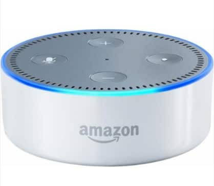 AMAZON - ECHO DOT (2ND GENERATION) - WHITE/BLACK $35 Free Shipping