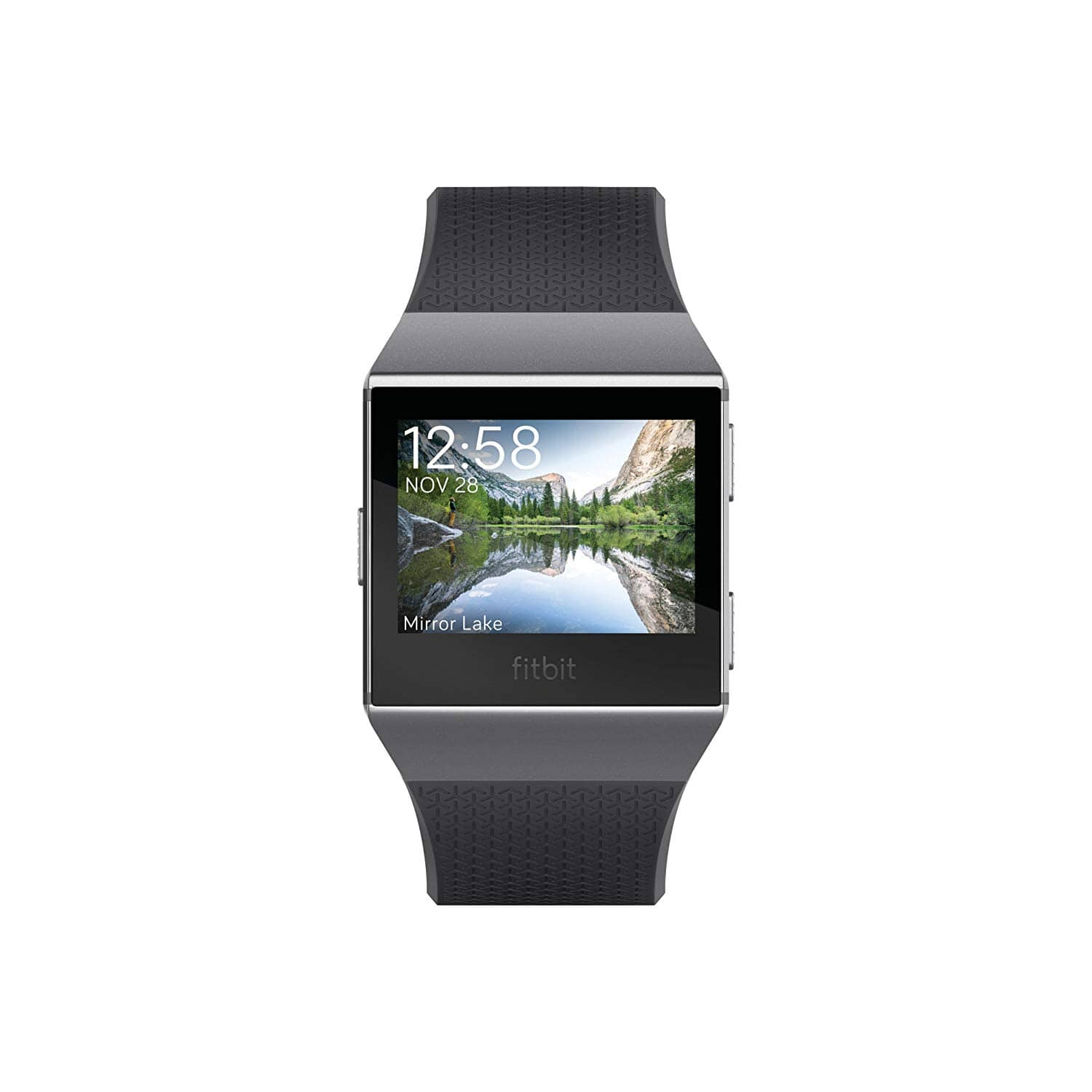 Fitbit Ionic Smartwatch, Charcoal/Smoke Gray, One Size (S & L Bands Included) + Amex 20% $199