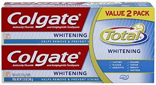 2-Pack of 6oz Colgate Total Whitening Toothpaste $3.20 + Free Shipping