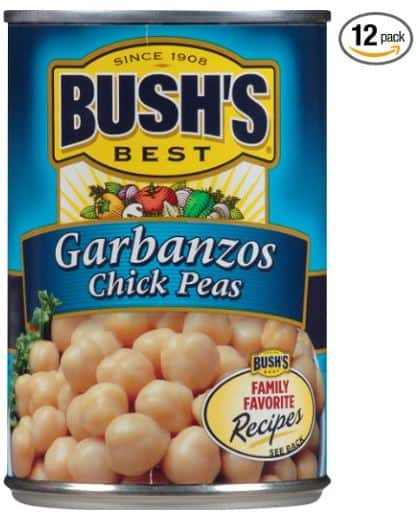 Amazon Add-on Item: 12-Pack of 16oz Bush's Best Garbanzos Chick Peas $7.20 Free Ship With $25 Order