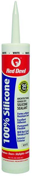 DEAD-10.1oz Red Devil 0816 Architectural Grade 50 Year 100% Silicone Sealant (White) $1.94 Free Ship Amazon S&S