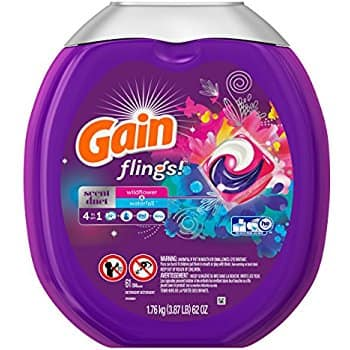 61-Count Gain Flings Scent Duets Laundry Detergent Pacs $11.29  Free Shipping Amazon S&S