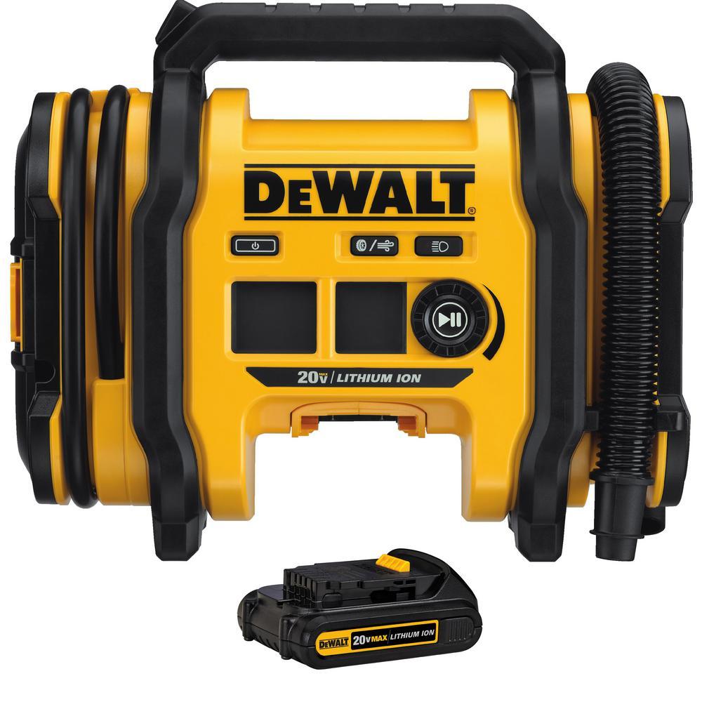 Home Depot Select Stores Dewalt 20v Max Cordless Inflator Battery