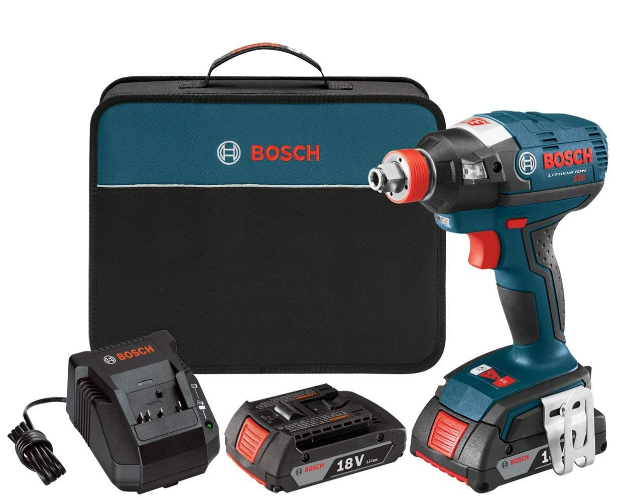 65d4955f980 Bosch 18V Brushless Impact Driver Kit w/ 2 Batteries, Charger & Case ...