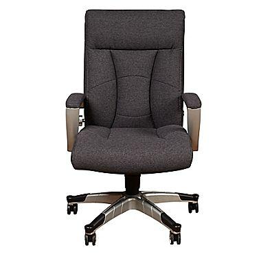 $35 Sealy Santana Fabric Executive Chair, Fixed Arms, Gray