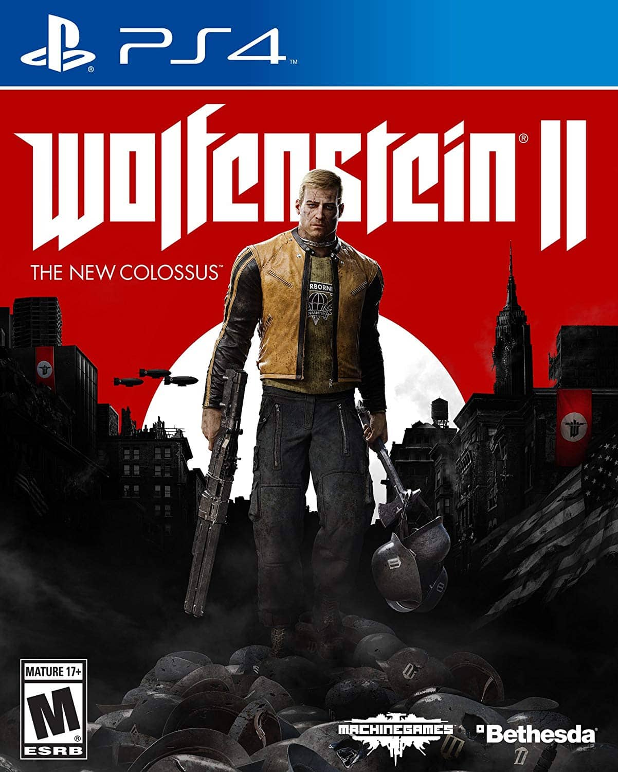 Wolfenstein II: The New Colossus - PlayStation 4 [Disc, Standard, PlayStation 4] $20