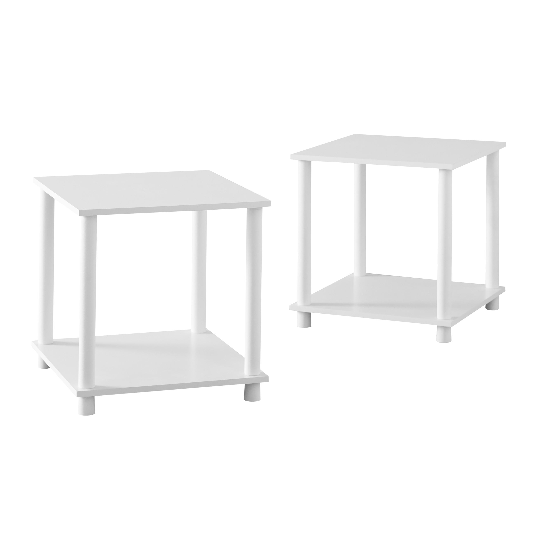 Mainstays No Tools 2-Pack End Table, black, $10.92 at Walmart