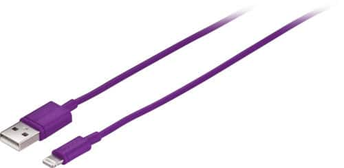 Insignia Apple MFi Certified 3' USB Lightning Cable (Purple) $3.99 + Free Shipping