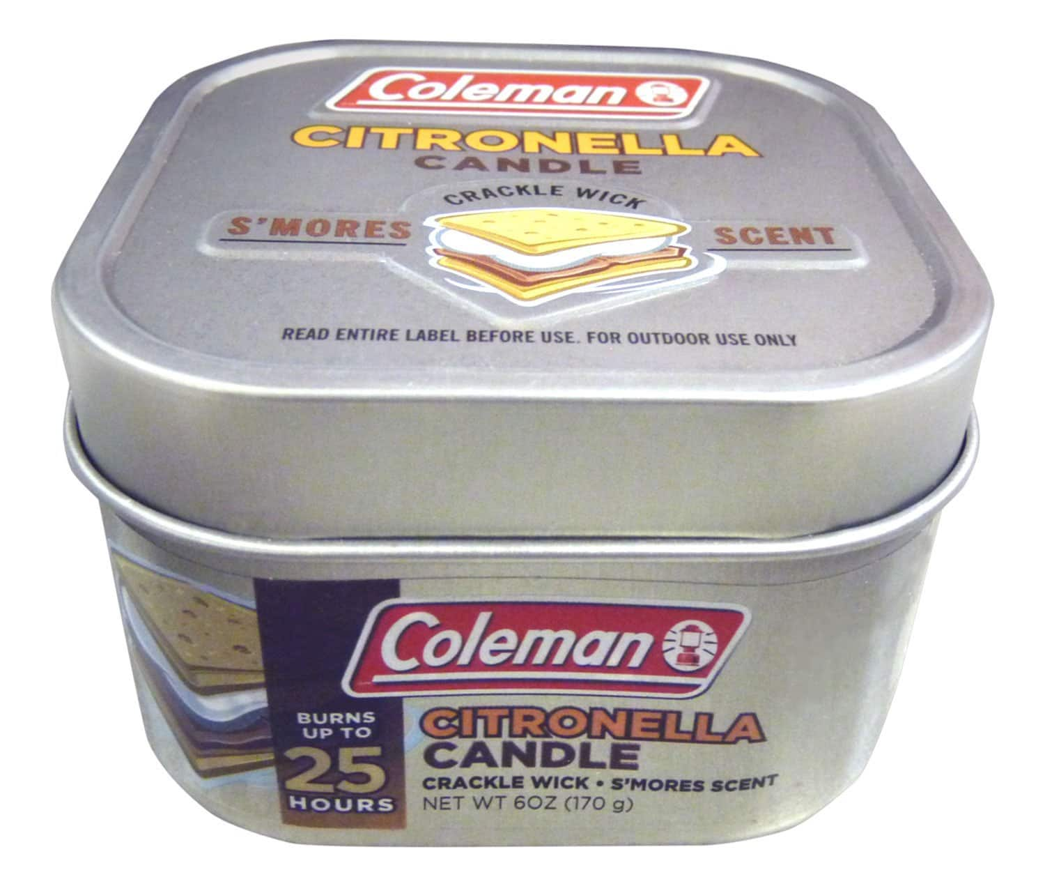 Coleman Scented Citronella Candle w/ Wooden Crackle Wick (Pine Scent or S'mores Scent) $2.94 + Free Shipping