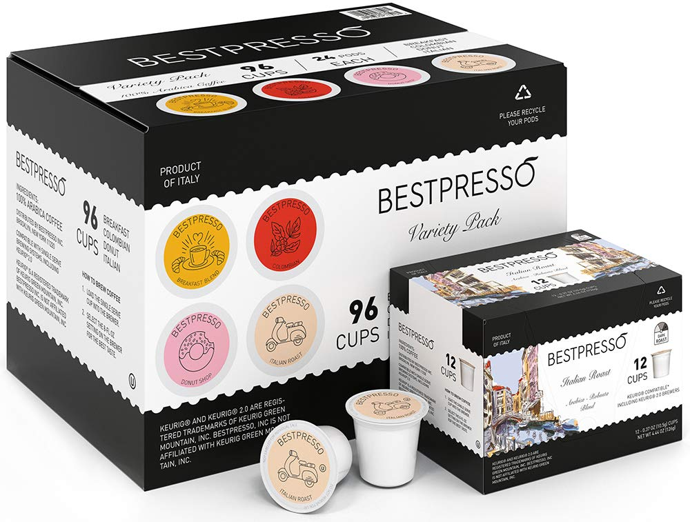 96-Count Bestpresso Coffee Single Serve K-Cups (Variety Pack) $24.14 + Free Shipping