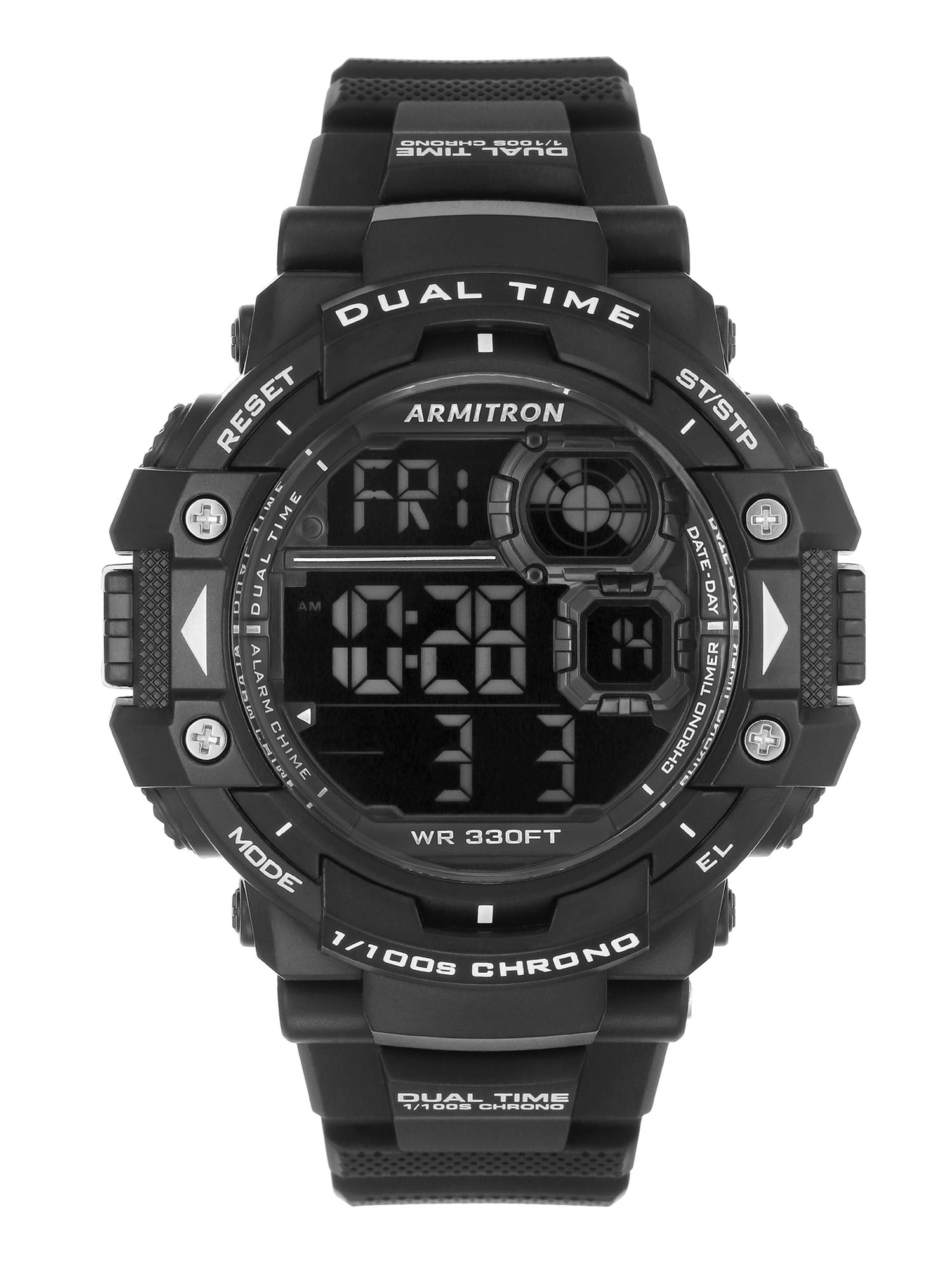 Add-on Item: Armitron Sport Men's 40/8309BLK Digital Chronograph Watch $5