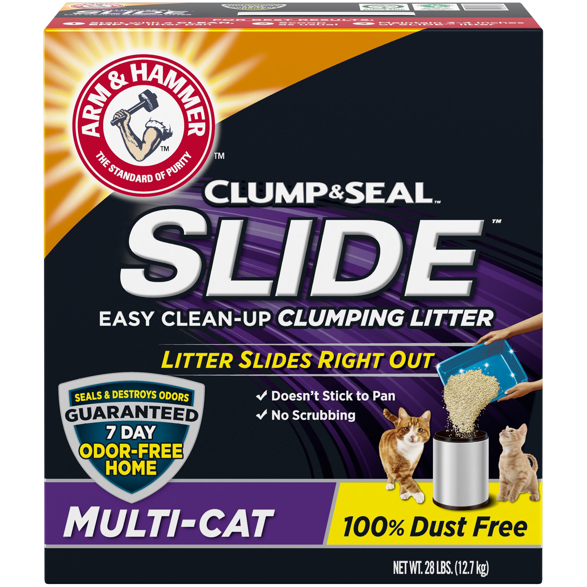 28-Lb Arm & Hammer SLIDE Easy Clean-Up Litter (Multi-Cat) $8.47 + Free Store Pickup