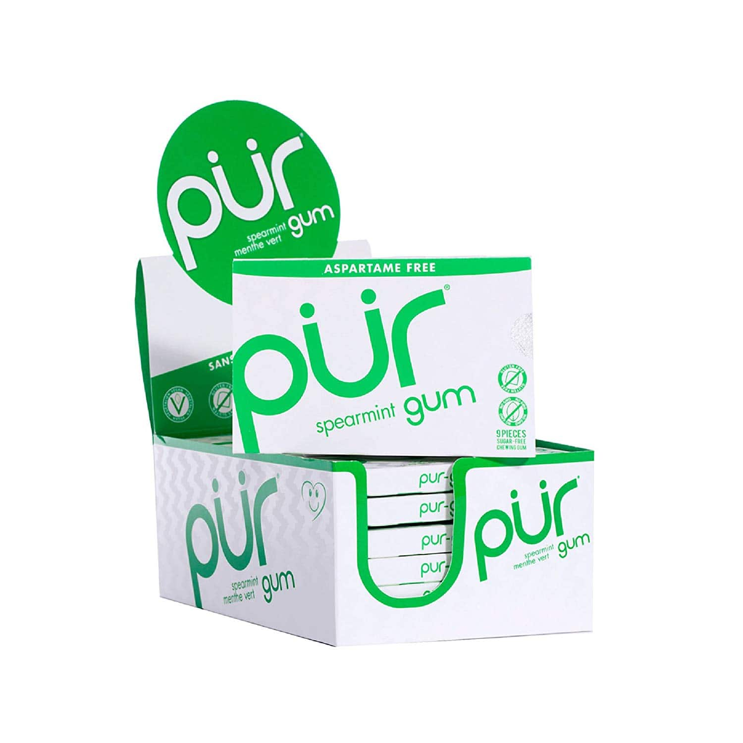 108-Count PUR 100% Xylitol Chewing Gum (Spearmint) $3.50