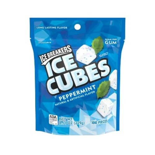 100-Piece Ice Breakers Ice Cubes Sugar Free Gum (Peppermint) $3.12