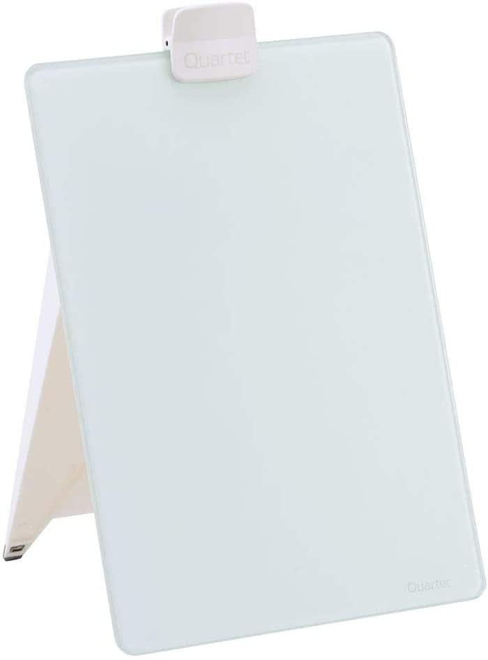 "Quartet Glass Whiteboard Desktop Easel (9""x11"") $7 + Free Shipping"