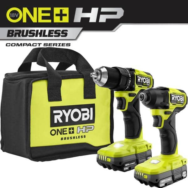 ONE+ HP 18V Brushless Cordless Compact 1/2 in. Drill and Impact Driver Kit $139