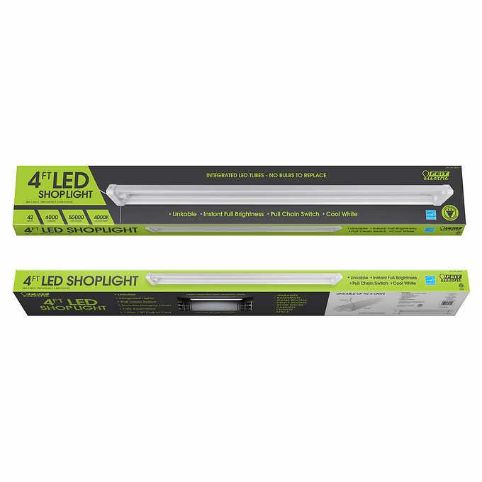 Feit 4' Linkable LED Shop Light, 2-pack $39 99 - Slickdeals net