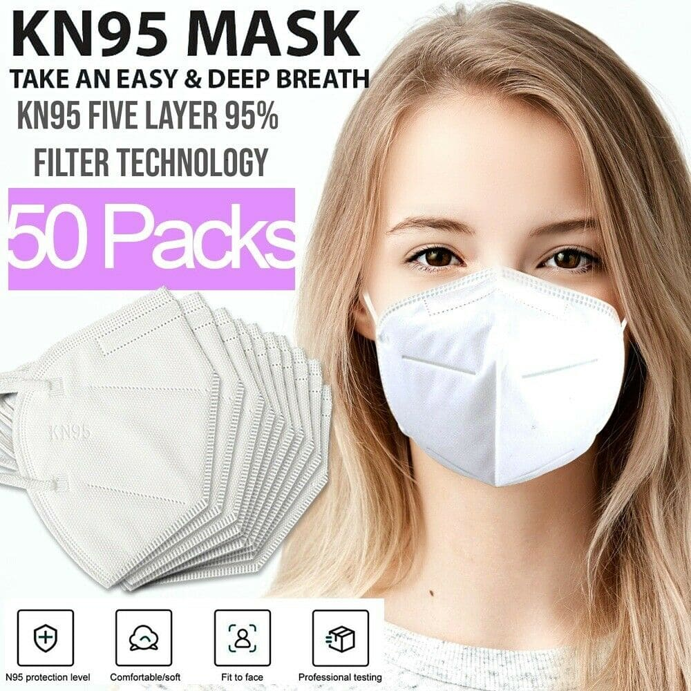 KN95 Protective 5 Layers Face Mask [50 PACK] BFE 95% PM2.5 on eBay for $14.99 w/free shipping
