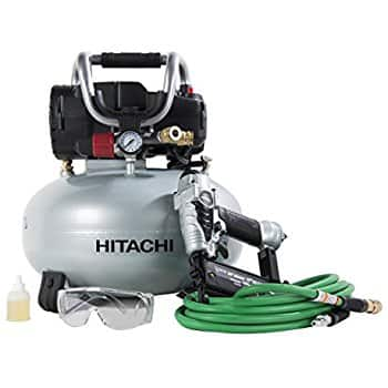 Hitachi KNT50AB Finish Combo Kit (Includes NT50AE2 Brad Nailer + EC710S Pancake Compressor) $159 Lowes and Amazon