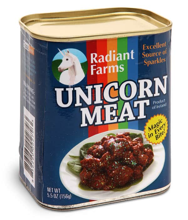 GameStop.com and in-store: Canned Unicorn Meat - by ThinkGeek Org.Price $8.97 now $3.97 YMMV