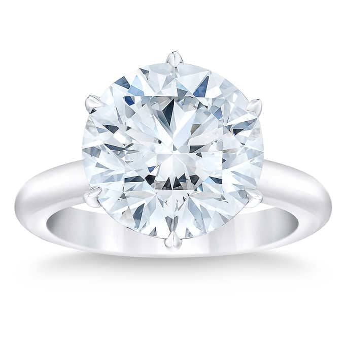 Round Brilliant  10.03 ct Diamond Platinum Solitaire Ring $420,000 free shipping @ Costco