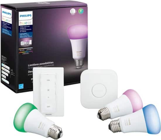 Philips - Hue White & Color Ambiance LED Starter Kit $129 $129.99