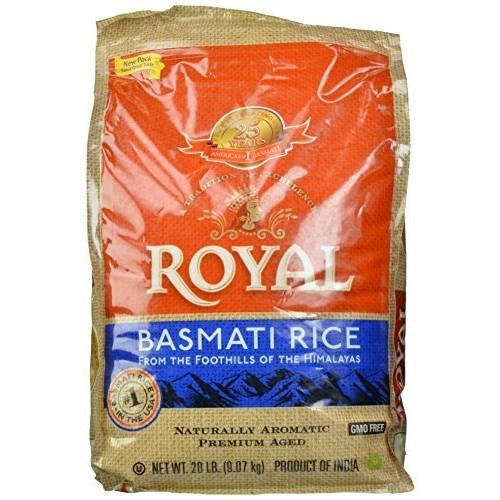Amazon Prime Only -  Royal White Basmati Rice, 20 Pound - $16.98