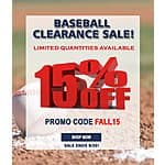 15% Off Baseball Equipment - Acuity-Sports.com