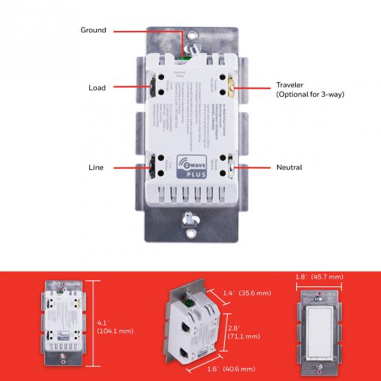 Honeywell ZWave Plus Switch $24.95