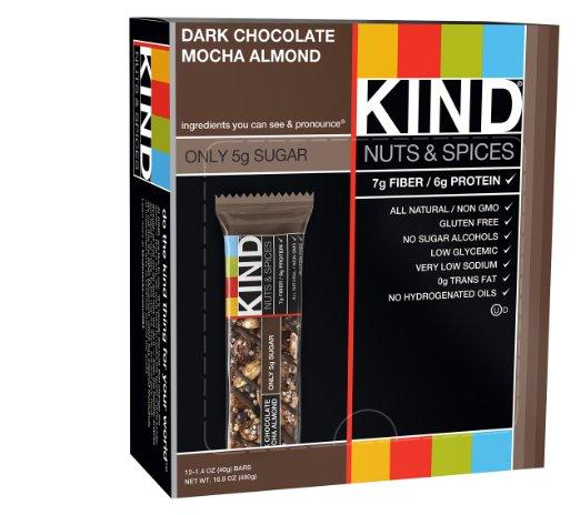 $4.90 for 12 KIND Bars, Dark Chocolate Mocha Almond, 1.4 Oz Bars, 12 Count  $4.90