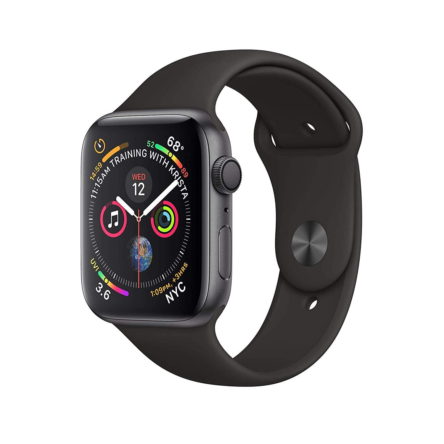Amazon Warehouse: (Used-Good to Used-Very Good) Apple Watch Series 4 (GPS, 40mm) - Space Gray Aluminium Case with Black Sport Band $210.5
