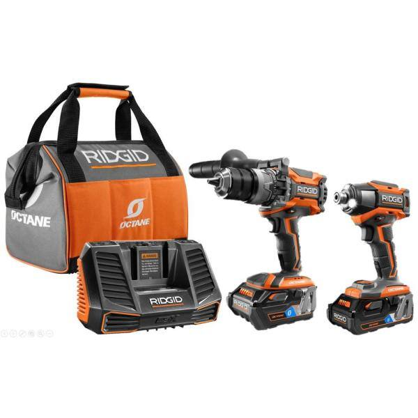 YMMV: RIDGID 18v Octane Hammer Drill and Impact Driver combo kit (in store clearance) $266
