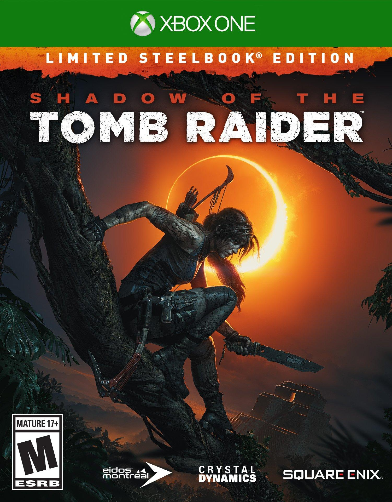 Shadow of the Tomb Raider Limited Steelbook Edition (Xbox One) - $19.99