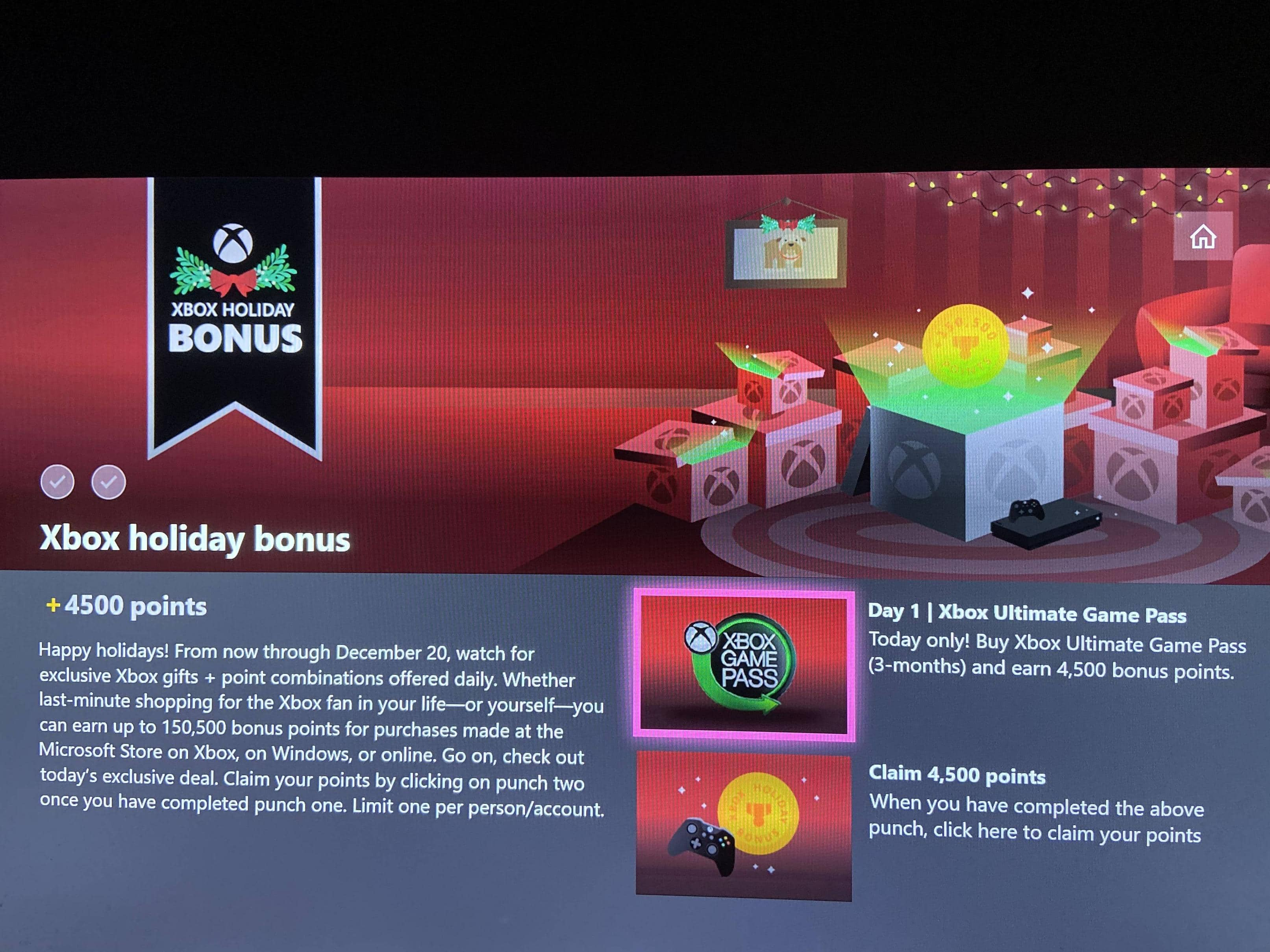 Purchase 3 Months Xbox Game Pass Ultimate for $1 (YMMV) and get 4500 Microsoft Points