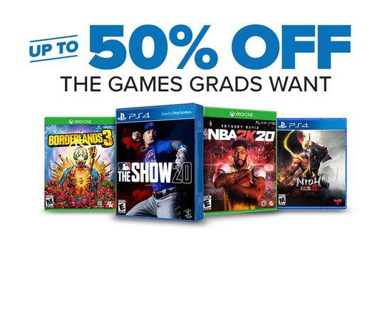 GameStop ConGRADulations Sale:  Up to 50% Off games, $80 Off PreOwned Xbox One X Consoles, etc. $13.99+ & Free Shipping On Orders $35+