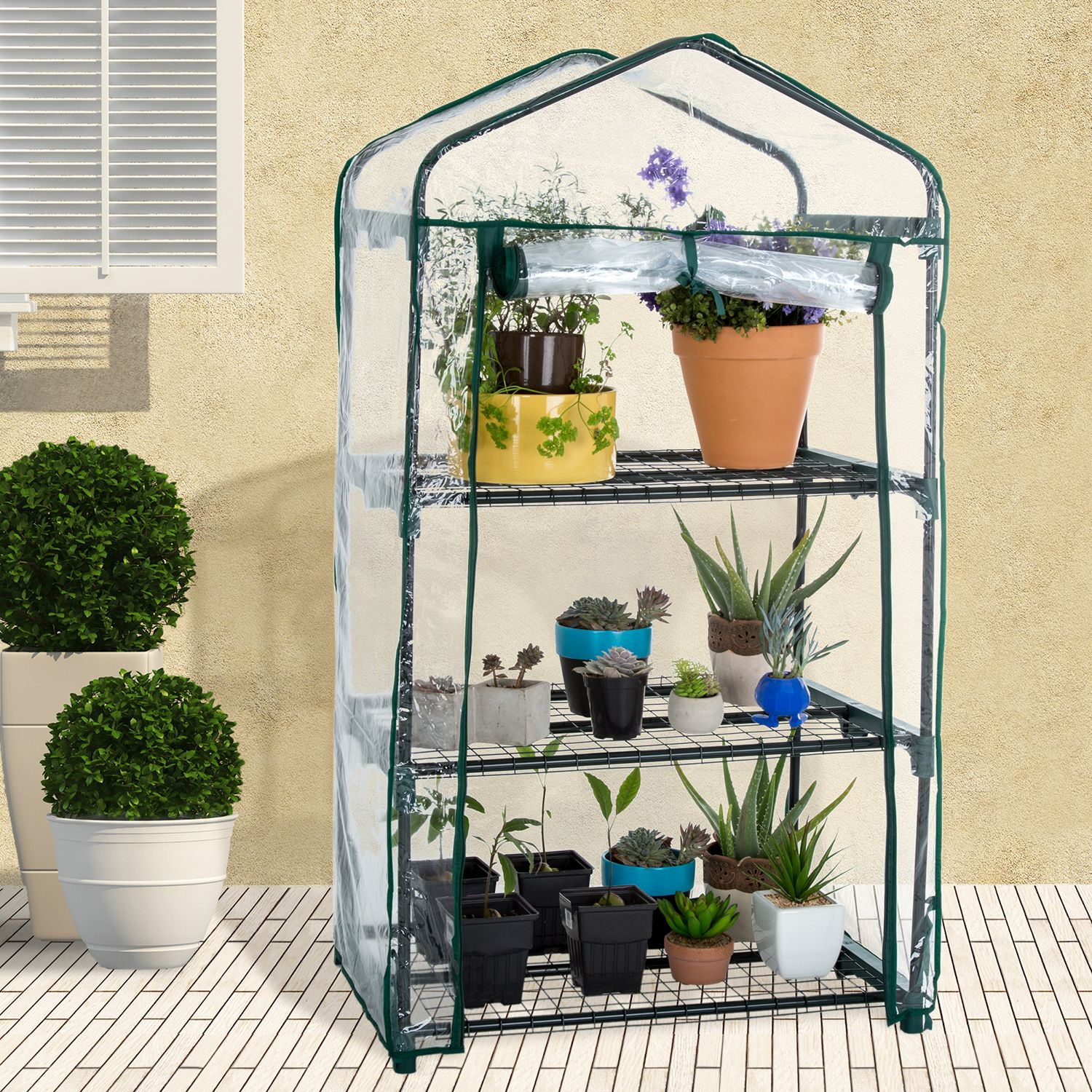 Pure Garden 3-Shelf Mini Greenhouse & Cover $16 @ Kohl's