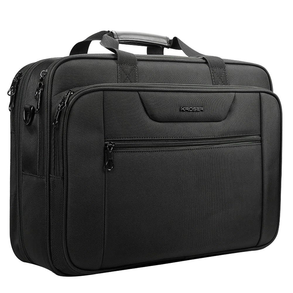 "KROSER 18.5"" Laptop Bag XXL Laptop Briefcase Fits Up to 18"" Laptop Water-Repellent, Amazon $29.99 AC"